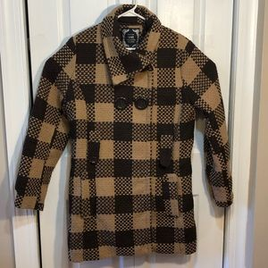 Yoki Collection Double Breasted Houndstooth Coat